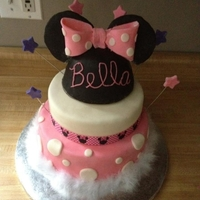 Minnie Mouse Cake Everything is cake even the mickey ears. Pretty simple to make!