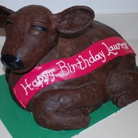 Baby Cow Birthday Cake This is my 1st try at a #D cake and I was terrified! I want to say thank you to a few fellow Cake Centralers that encouraged me. I had a...