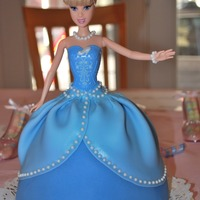 Cinderella This was my 1st doll cake. It was for a little girl turning 4 and she loves princesses. Her Mom asked for a Cinderella doll cake and...
