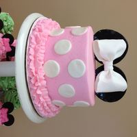 Minnie Mouse Cake made for my cousins baby shower :)