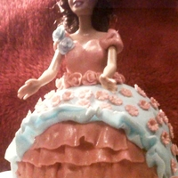 Barbie Princess Cake LEMON CAKE WITH LEMON BC COVERED IN MMF ADORNED WITH MMF ACCENTS