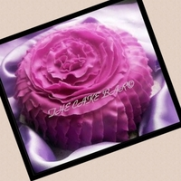 Purple Passion Frilled cake