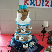 Western Baby Boy Shower Cupcake Tree.