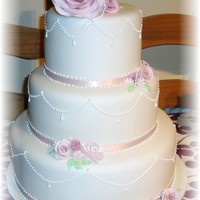 Pretty Dusky Pink Rose Wedding Cake pretty dusky pink rose wedding cake