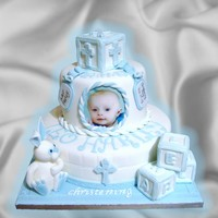 Blue Baby Boy Christening Baptism blue baby boy christening baptism