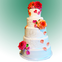 Wedding Cakes Rose Wedding Cake