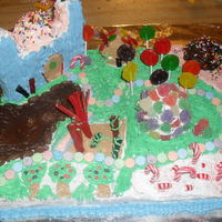 Candy Land Cake i made this candyland cake for a christmas bake off an i won 2nd place