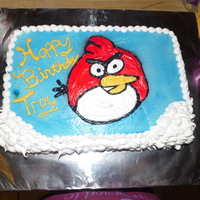 Red Angry Bird Cake   Red angry bird cake