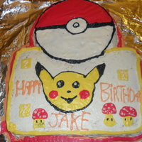 Pokemon Birthday Cake I have made alot better cakes but this is a cute cake i make for my little cousin
