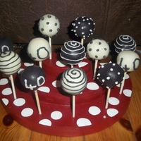 40Th Birthday Cake Pops These were for a 40th birthday for a lady who when asked said her favourite colours were black, white & silver