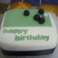 Crown Green Bowling Birthday Cake