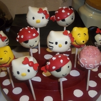 Mixture Of Cake Pops Minnie, Kitty, Pirates & a personalised cake pop