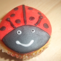 Ladybug Ladybird cupcake as my daughter requested