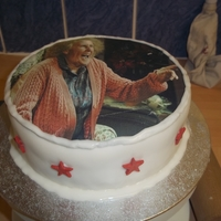 Catherine Tate's Nan The customer asked for a cake with the Nan from Catherine Tate on a gluten free cake.