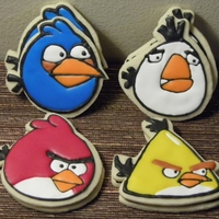 Angry Birds Freehand cut and decorated angry birds cookies for my sons 7th birthday party