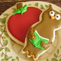 Whoo's A Smart Cookie? Apple & Owl cookies for Teacher Treats Bags on the first day of school