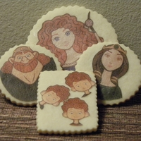 Pixar's Brave Cookies Simple edible image sugar cookies done in honor of the release of Pixar's Brave