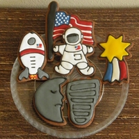 Neil Armstrong Dedication Set Set of cookies in memory of the passing of Neil Armstrong