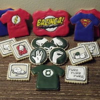 Big Bang Theory Collection of Sheldon Cooper from the Big Bang Theory cookies I completed