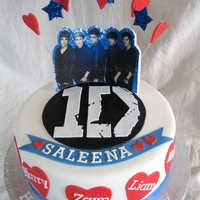 One Direction One Direction British boy band cake made for 13 y/o girl. This cake was inspired by Diva Deb's Cakes whose original design got my...