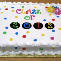 Class Of 2012 Simple 1/2 sheet cake for elementary kids graduating to Junior High.