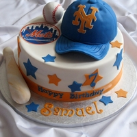 Ny Mets Birthday Cake Made for a little NY Mets fan.