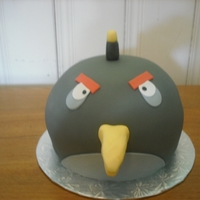 Angry Birds Black Angry Birds Cake - made with the help of hanneol's blog :)
