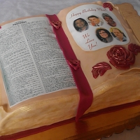 Bible Cake I finally got to use my edible image printer! This was for a friends mom who loves her bible...I used a 11x15 pan and 3 layers of marble...