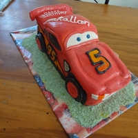 Lightening Mcqueen Cake   Lightening McQueen from the Cars movie chocolate cake