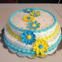 My Daisy Cake Seen a pretty daisy cake on here and wanted to try one myself...I think I loved the colors most.