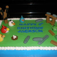 Angry Birds Buttercream with fondant accents