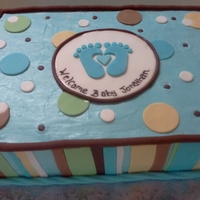 Little Feet Baby Shower Cake Little feet baby shower cake
