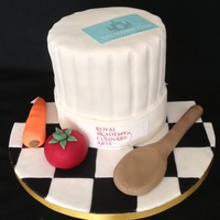 Chef Cake Made for a young man who works at the Sloan club London.
