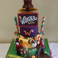 Willy Wonka This was made for my sons birthday. He wanted the chocolate fountain to work so mummy had her work cut out with this one.