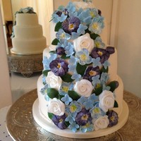 Floral Wedding Cake My favorite venue once again. Coffee & Baileys top tier, lemon middle tier and vanilla bottom tier.