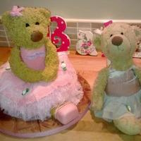 Birthday Cake *Twinkle the teddy bear cake x Inspiration - Twinkle the baby ballet teddy xxMy little girls favourite teddy made into cake xxx