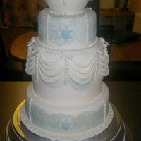 Wedding Cake   Vintage inspired sugarveil wedding cake!!!