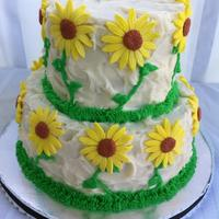 The Daisy Wedding Shower Cake *