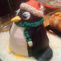 Penguin Cake I show up at the party with cake in hand.....no one took a second look!? I didn't get it. that never happens. an hour later after...
