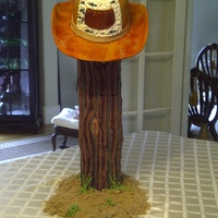 "Cowboy Hat On A Hitching Post Made for a Dad who was a ""Dude"""