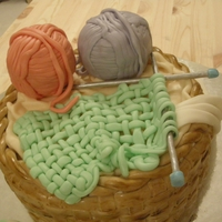 Knit, Knit   a birthday cake for a knitting lover