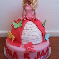 Barbie Cake barbie cake with butterflies