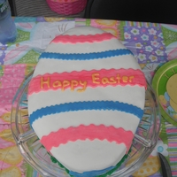 Easter Egg Cake Second Easter Egg Cake