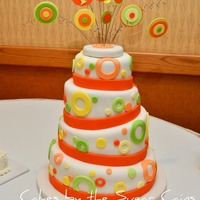 Whimsical Nontraditional Topsy Turvy Wedding Cake