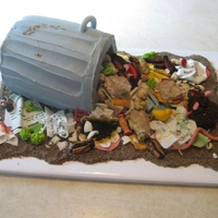 Trash Can / Garbage Can Cake