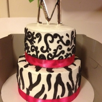 Pink And Zebra Cake Zebra and scroll work buttercream cake. After doing many cakes with fondant zebra stripes, I'm so glad I was able to do buttercream...