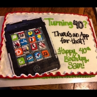 Iphone Themed Cake