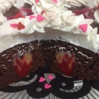 Bleeding Heart Cupcakes