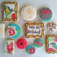 Garden Inspired Birthday Cookies Garden inspired birthday cookies