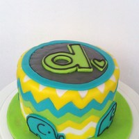 Chevron 1St Birthday Smash Cake Chevron 1st birthday smash cake